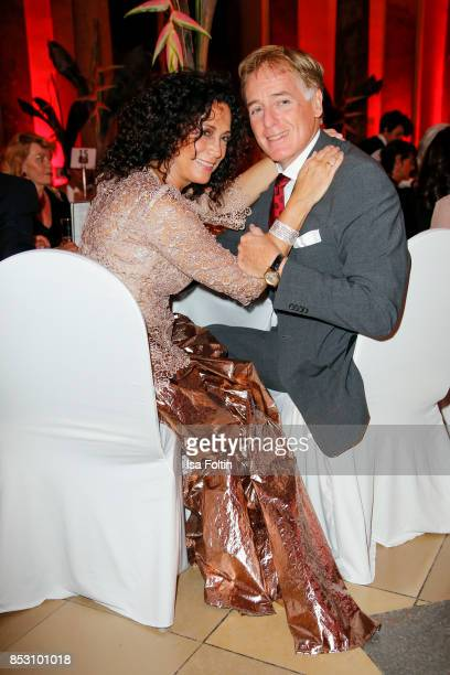 Austrian actress Barbara Wussow and Austrian actor Albert Fortell during the Minx Fashion Night in favour of 'Sauti Kuu' of Auma Obama at Wuerzburger...
