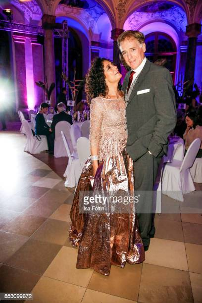 Austrian actress Barbara Wussow and Austrian actress Albert Fortell during the Minx Fashion Night in favour of 'Sauti Kuu' of Auma Obama at...