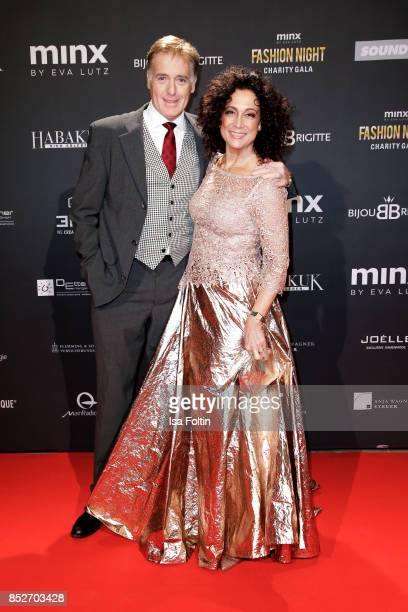 Austrian actress Barbara Wussow and her husband Austrian actor Albert Fortell during the Minx Fashion Night in favour of 'Sauti Kuu' of Auma Obama at...