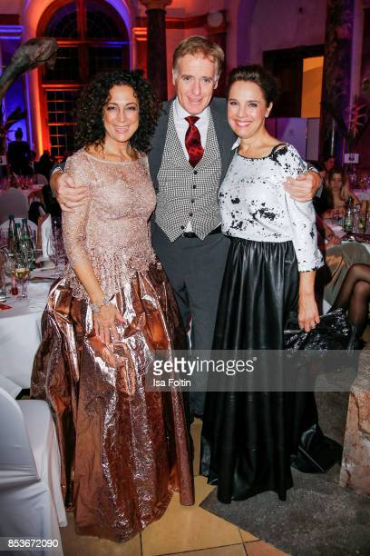 Austrian actress Barbara Wussow with her husband Austrian actor Albert Fortell and Luxembourgian presenter Desiree Nosbusch during the Minx Fashion...