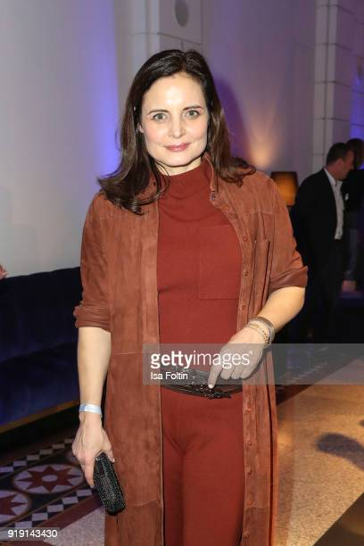 Austrian actress Elisabeth Lanz attends the Blue Hour Reception hosted by ARD during the 68th Berlinale International Film Festival Berlin on...