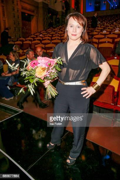 Austrian actress Eva Loebau during the Bayerischer Fernsehpreis 2017 at Prinzregententheater on May 19 2017 in Munich Germany