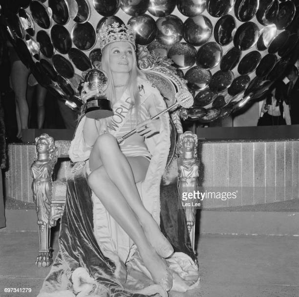 Austrian actress Eva RueberStaier wins the Miss World 1969 beauty contest at the Royal Albert Hall London UK 27th November 1969