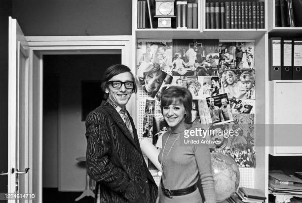 Austrian actress Heidelinde Weis with photographer Heinz Browers Germany 1970s