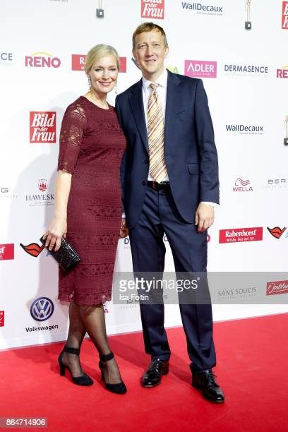 Austrian actress Katja Weitzenboeck and guest attend the 'Goldene Bild der Frau' award at Hamburg Cruise Center on October 21 2017 in Hamburg Germany