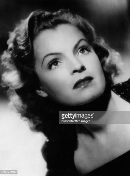 Austrian Actress Magda Schneider. Photograph around 1940