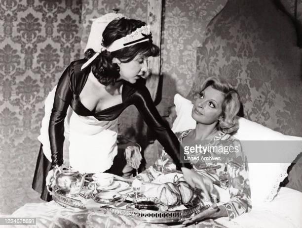 """Austrian actress Nadja Tiller and Margot Mahler in the TV series """"Es muss nicht immer Kaviar sein"""", Germany, 1977. ."""