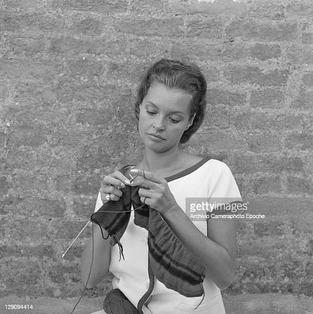 Austrian actress Nadja Tiller, Venice, 1960s.