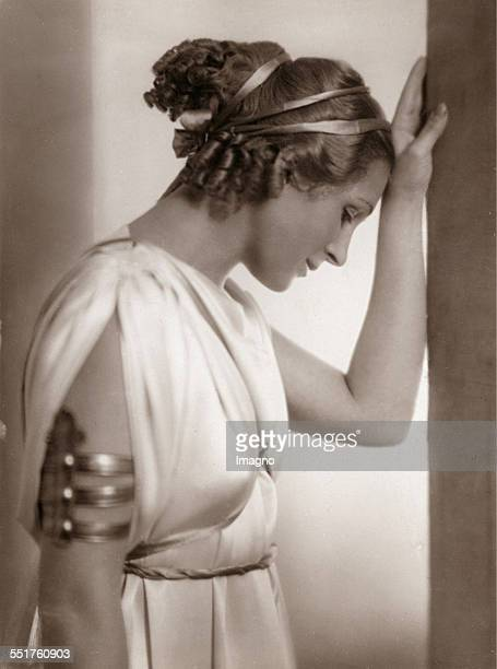 Austrian actress Nora Gregor as Thaisa in 'Pericles Prince of Tyreby' by William Shakespeare Burgtheater Vienna First night 16th October 1937...