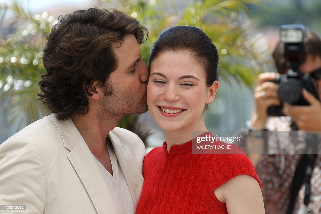 Austrian actress Nora Von Waldstatten is by Venezuelian born actor Edgar Ramirez as they pose during the photocall of 'Carlos' presented out of competition at the 63rd Cannes Film Festival on May 20, 2010 in Cannes.