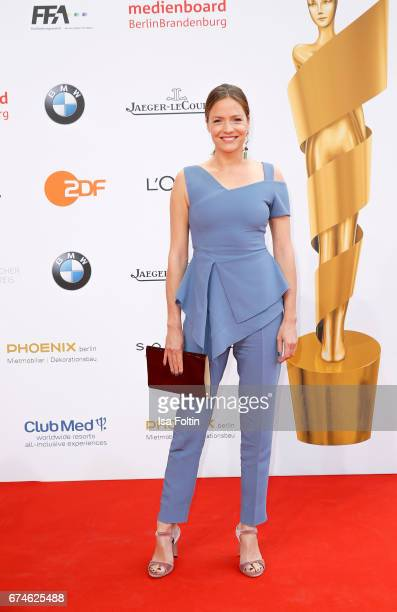 Austrian actress Patricia Aulitzky during the Lola German Film Award red carpet arrivals at Messe Berlin on April 28 2017 in Berlin Germany