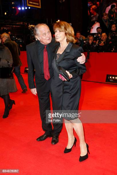 Austrian actress Senta Berger and her husband Michael Verhoeven attend the 'Django' premiere during the 67th Berlinale International Film Festival...