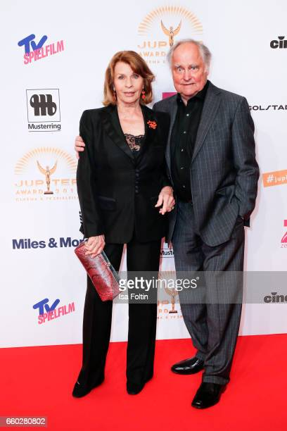 Austrian actress Senta Berger and her husband producer Michael Verhoeven attend the Jupiter Award at Cafe Moskau on March 29 2017 in Berlin Germany