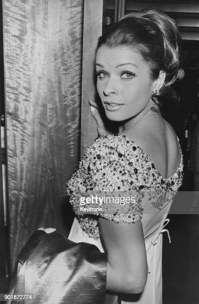 Austrian actress Senta Berger arrives at the Odeon Leicester Square in London for the premiere of her latest film 'The Quiller Memorandum' 10th...