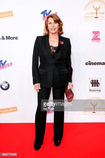 Austrian actress Senta Berger attends the Jupiter Award at Cafe Moskau on March 29 2017 in Berlin Germany