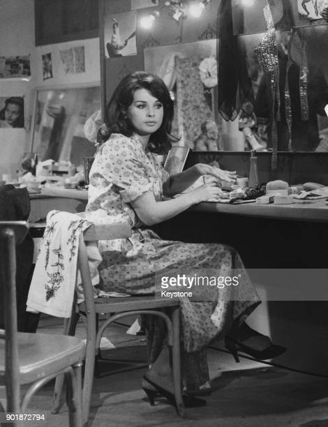 Austrian actress Senta Berger in her dressing room during the filming of 'Fleur du Mal' in Nice France 14th December 1965 The film was later titled...