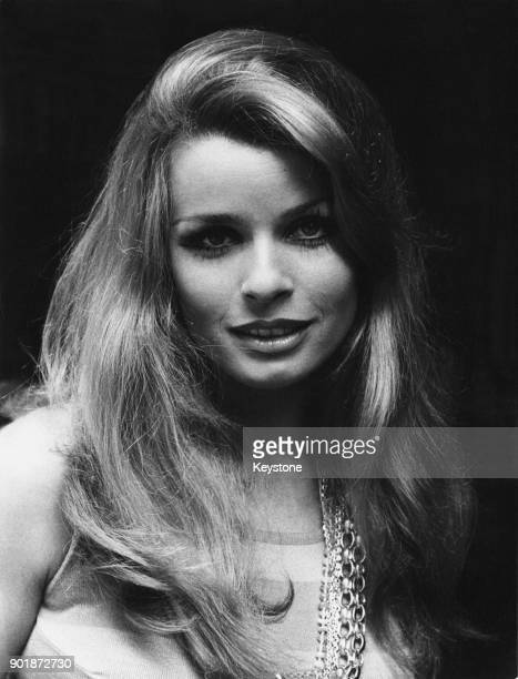 Austrian actress Senta Berger in the Via Margutta Rome Italy 26th August 1968 She is in Italy to make the film 'If It's Tuesday This Must Be Belgium'