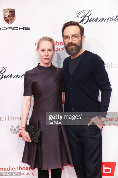 Austrian actress Susanne Wuest and German actor Aleksandar Jovanovic attend the Medienboard BerlinBrandenburg Reception on the occasion of the 69th...