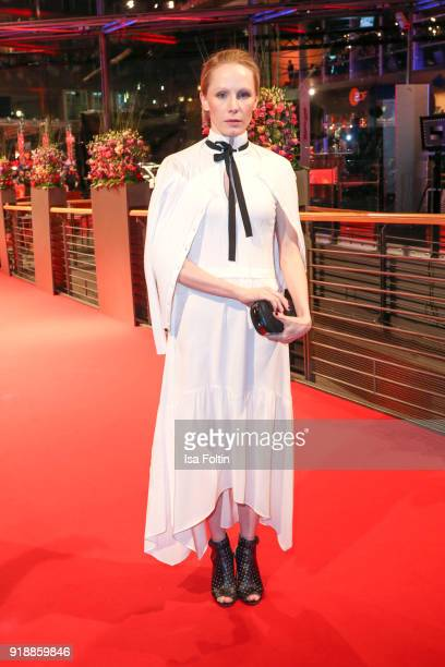Austrian actress Susanne Wuest attends the opening party of the 68th Berlinale International Film Festival Berlin at Berlinale Palace on February 15...
