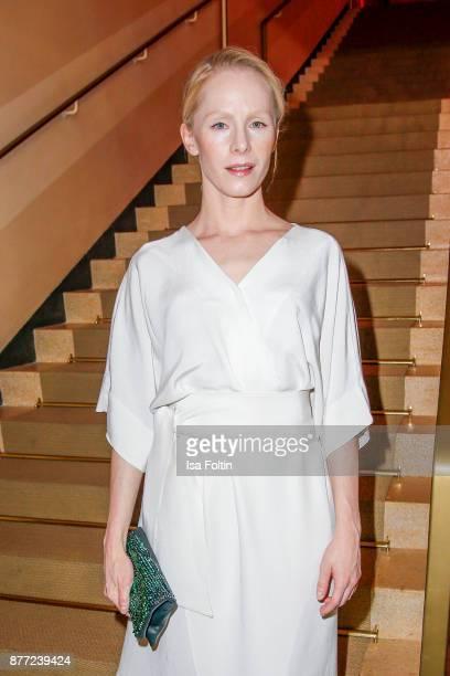 Austrian actress Susanne Wuest attends the premiere of 'Der Mann aus dem Eis' at Zoo Palast on November 21 2017 in Berlin Germany