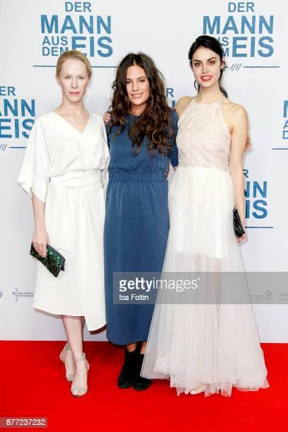 Austrian actress Susanne Wuest with Austrian singersongwriter Anna F and German actress Violetta Schurawlow attend the premiere of 'Der Mann aus dem...