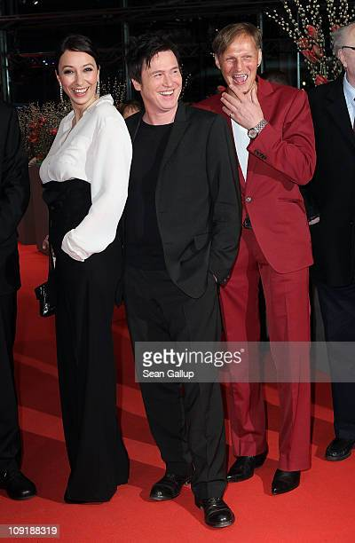 Austrian actress Ursula Strauss, German actor Uwe Bohm and Austrian actor Georg Friedrich attend the 'Mein Bester Feind' Premiere during day seven of...