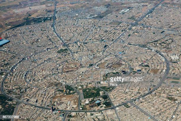 Austrian Airlines flight from Vienna to Erbil Aerial view of Erbil which is the most populated city of Iraqi Kurdistan with one and a half million...