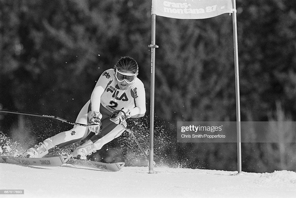 Women's Giant Slalom At 1987 World Ski Championships : News Photo