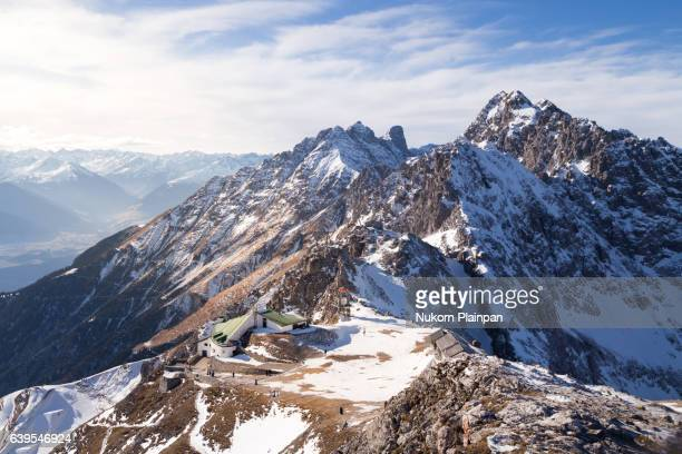 austrian alpine view - innsbruck stock pictures, royalty-free photos & images