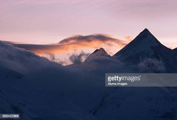 Austrian Alps at sunset