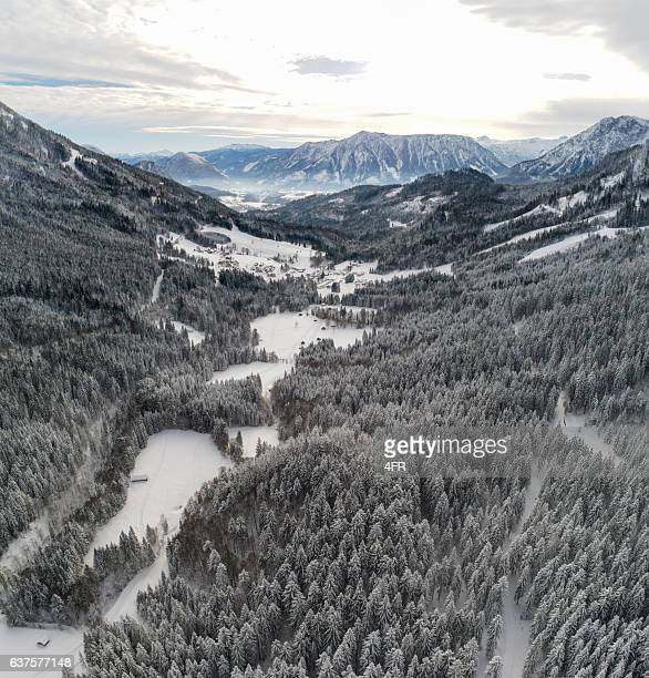 Austrian Alps covered with Snow, Ausseerland, Styria, Austria