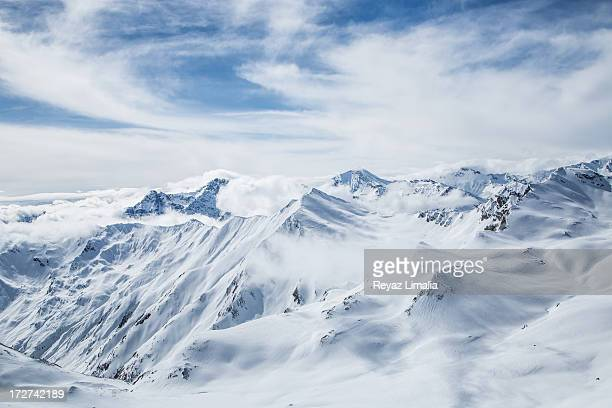 austrian alps - snowcapped mountain stock pictures, royalty-free photos & images