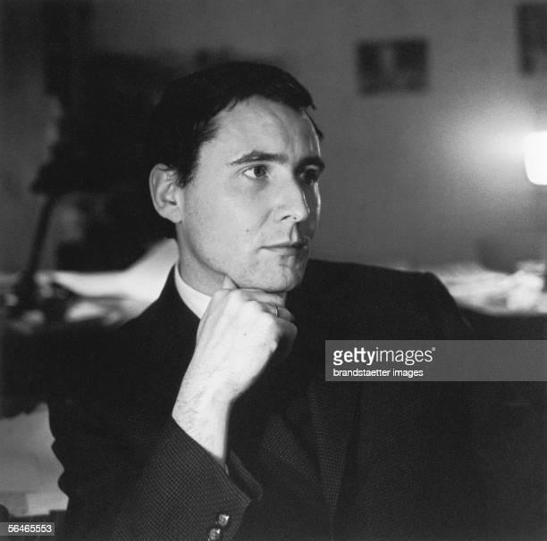 Austrian Author artist and composer Gerhard Ruehm Photography 1959 [Gerhard Ruehm oesterr Schriftsteller bildender Kuenstler und Komponist...