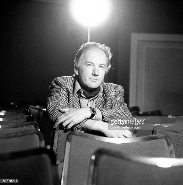 Austrian author Thomas Bernhard. Akademietheater. Vienna. Photograph. 1976