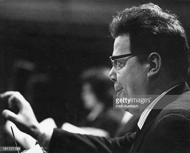 Austrian bass-baritone Walter Berry at a recording session for Mozart's 'Cosi fan tutte' at Kingsway Hall, London, 11th September 1962.