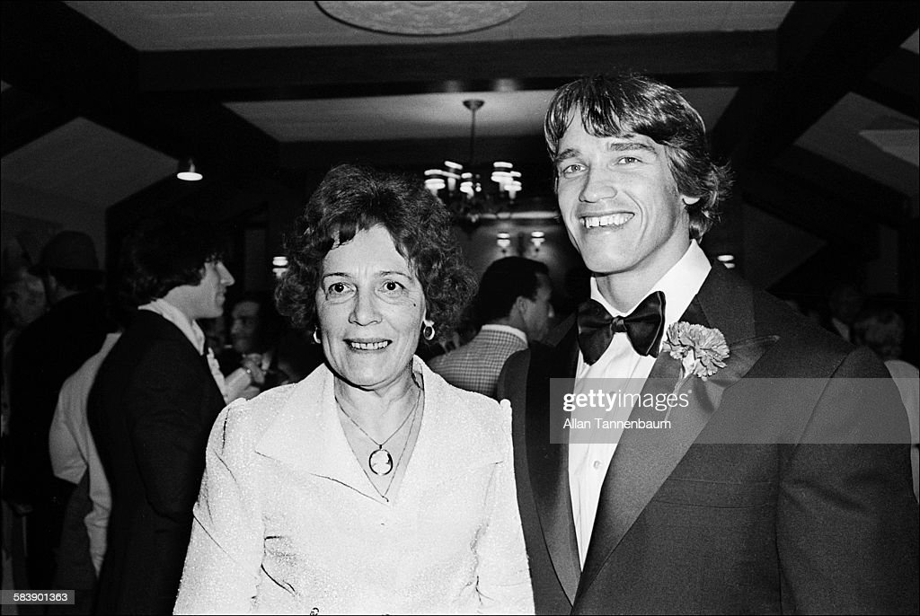 Schwarzenegger & Mom At 'Pumping Iron' Premiere : News Photo