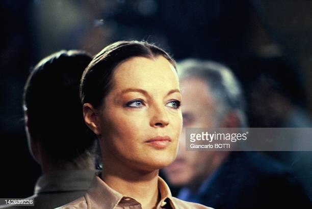 Austrian born actress Romy Schneider on the set of 'A Simple Story' a 1978 French drama film directed by Claude Sautet 1978 in France
