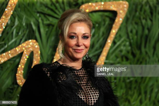 Austrian businesswoman Nadja Swarovski poses on the red carpet upon arrival to attend the British Fashion Awards 2017 in London on December 4 2017 /...