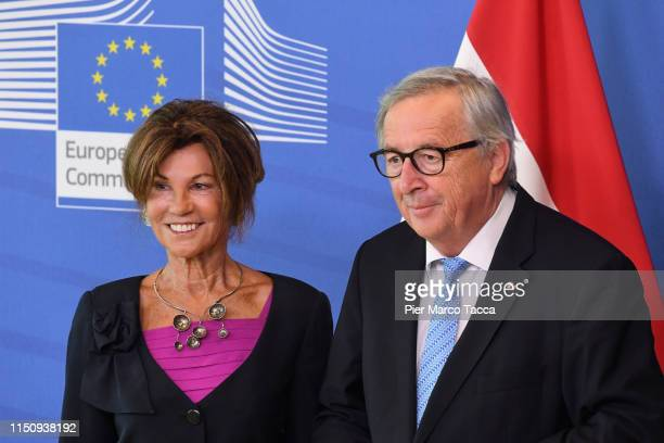 Austrian Chancellor, Brigitte Bierlein meets President of the European Commission prior the Heads of State at the EU Summit on June 20, 2019 in...