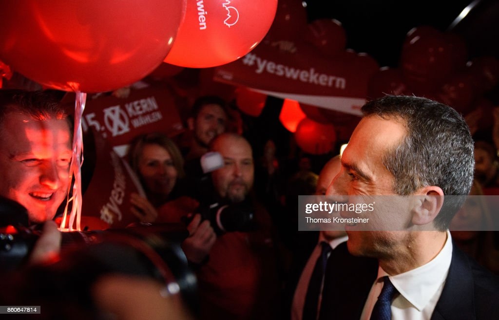 Austrian Chancellor Christian Kern of the Social Democratic Party (SPOe) arrives at ORF studios for the 'Elefantenrunde' television debate between the lead candidates prior to legislative elections on October 12, 2017 in Vienna, Austria. Austria will hold elections on October 15 and many analysts are predicting a win for the conservative Austrian People's Party (OeVP) of Sebastian Kurz, though that the next government coalition will very likely include the right-wing Austria Freedom Party (FPOe).