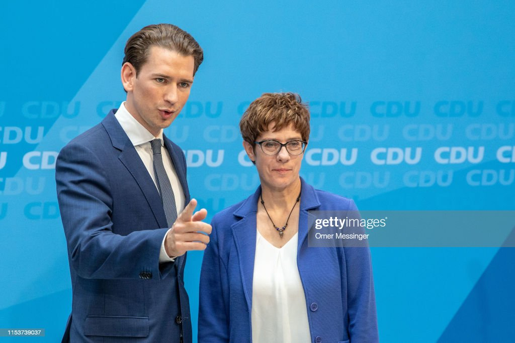 Sebastian Kurz And Annegret Kramp-Karrenbauer Meet In Berlin : Nachrichtenfoto
