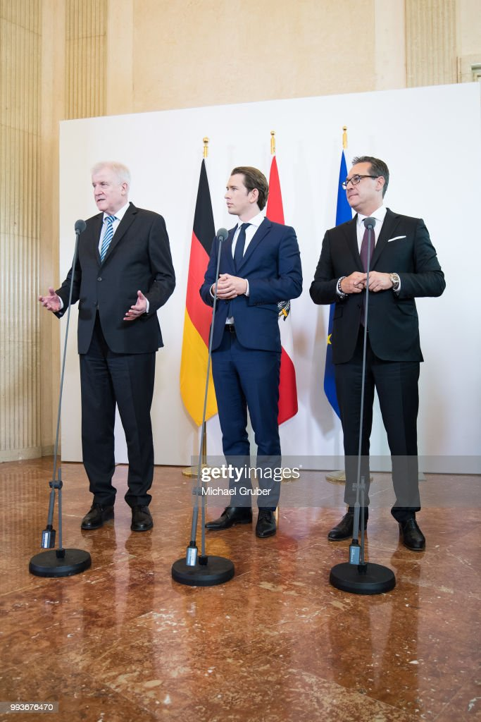 German Interior Minister Seehofer In Vienna For Talks Over Migration Control Measures