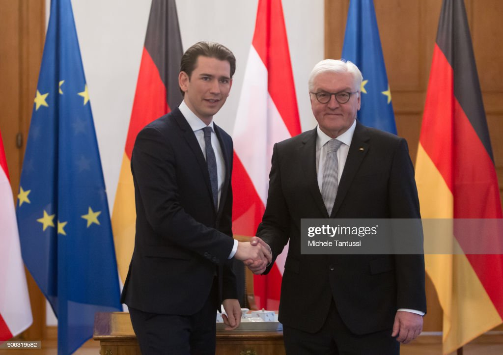 New Austrian Chancellor Sebastian Kurz Meets German President Steinmeier : News Photo