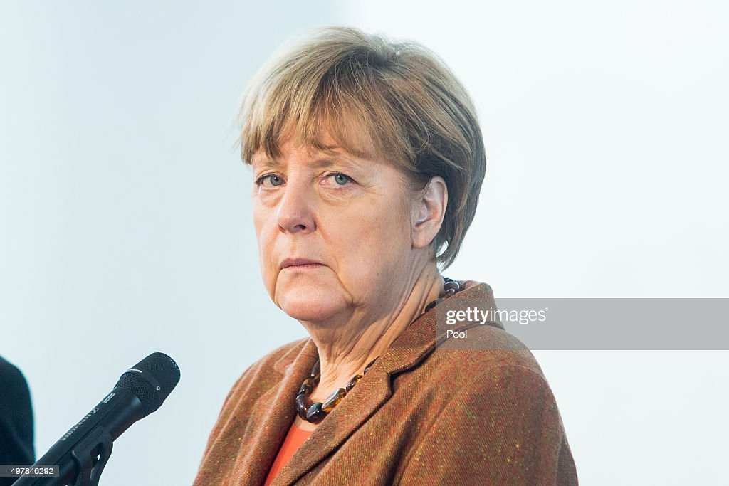 Austrian Chancellor Werner Faymann (not pictured) and German Chancellor Angela Merkel give a joint press conference at the German Chancellery on November 19, 2015 in in Berlin, Germany. Austrian Chancellor Faymann has called for more intensive border checks on migrants in the aftermath of the Paris attacks, as he and Chancellor Merkel also called for an increase in help amongst EU countries for the refugee crisis.