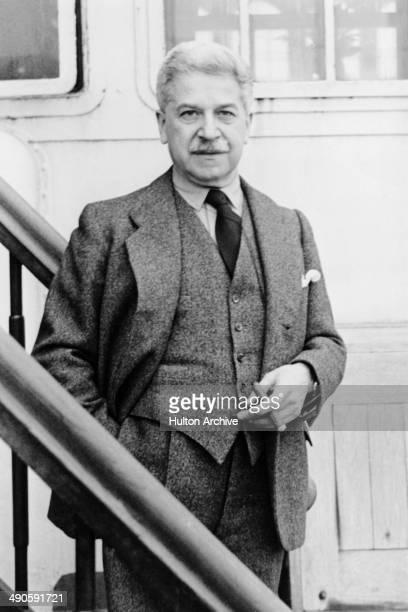 Austrian classical pianist Artur Schnabel circa 1940