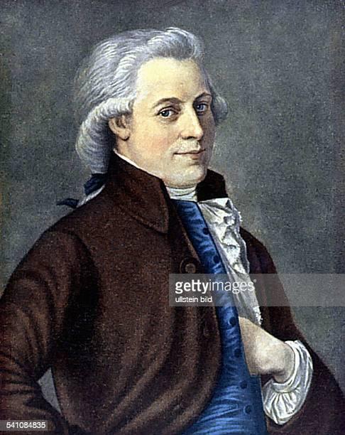 WOLFGANG AMADEUS MOZART Austrian composer After a painting by German painter JohannFriedrichAugust Tischbein
