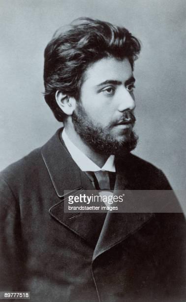 Austrian composer Gustav Mahler Photograph around 1885