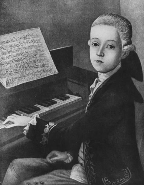 Mozart At Keyboard Wall Art