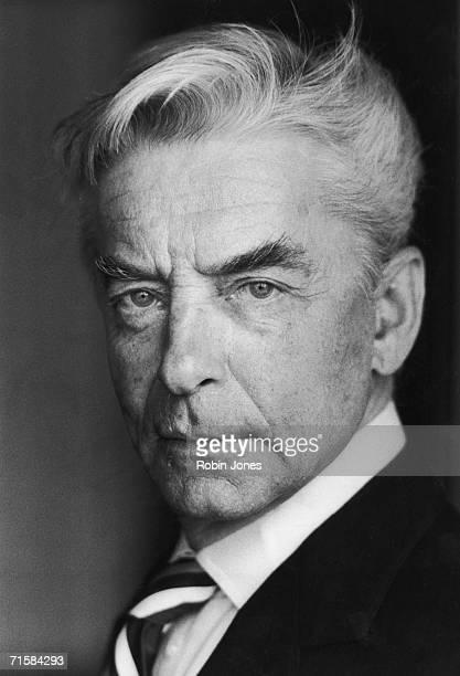 Austrian conductor Herbert von Karajan 13th June 1977