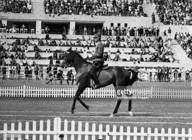 Austrian dressage rider Alois Podhajsky at the Olympic games in Berlin 1936 August 13th 1936 Photograph Der österreichische Dressurreiter Alois...